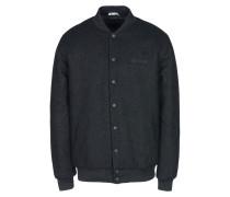 Embroidered Back Wool Zip Varsity Jacket Jacke
