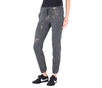 JOGGING PANTS IN FOIL PRINTED FLEECE Hose