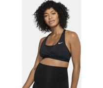 Swoosh gepolsterter Sport-BH mit mittlerem Halt  (Mutterschaftsbekleidung)