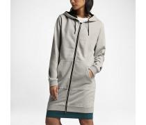 Lab Essentials Fleece Long Hoodie mit durchgehendem Reißverschluss