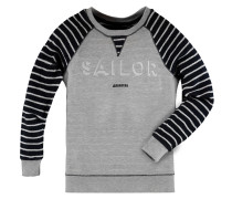 Sweatshirt Watersail Stripe Boys Jungen grau