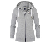 Sweatjacke Open Sea grau