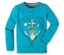 Sweatshirt Swan Girls Mädchen blau