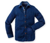 Hemd Pontus Dobby Boys blau Jungen