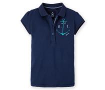 Poloshirt Sheer Girls Mädchen blau