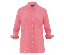 Bluse Flare Birds rot