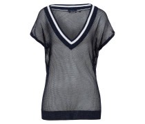 Strick-T-Shirt Aibel blau