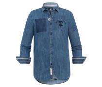 Hemd Back blau