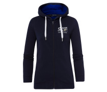Sweatjacke Open Sea blau