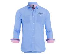 Hemd Bauke blau