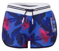 Shorts Adde Floral blau