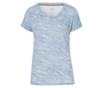 T-Shirt Flake blau