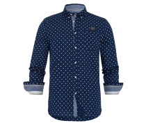 Hemd Ballast Dots blau