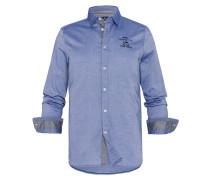 Hemd Bow Uni blau