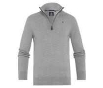 Pullover Royal Half Zip grau