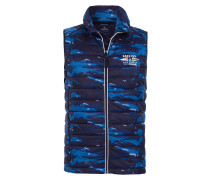 Steppweste League Camo blau