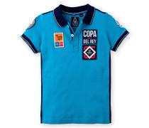 Poloshirt Canvas Kids Jungen blau