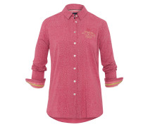 Bluse Flare Dots rot