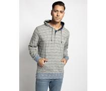 Sweatshirt grau/blau meliert