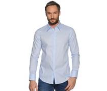 Hemd Custom Fit, hellblau/weiß gestreift, Herren
