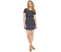 Kleid, navy/weiß, Damen