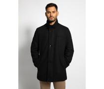 Mantel schwarz meliert
