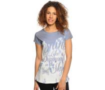 T-Shirt, graublau/offwhite, Damen