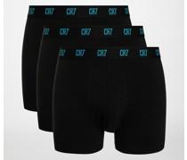 Boxershorts 3er Set schwarz