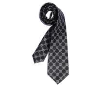 Krawatte, schwarz/grau, Herren