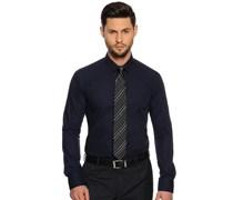 Hemd Custom Fit + Krawatte, navy, Herren
