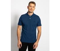 Kurzarm Poloshirt blau