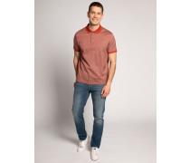 Kurzarm Poloshirt Regular Fit bordeaux