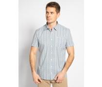 Kurzarm Hemd Regular Fit weiß/blau/grün