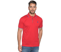 Kurzarm Poloshirt Regular Fit rot