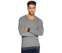 Pullover, schwarz/melange, Herren