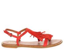 Sandalen, rot, Damen