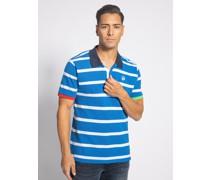 Kurzarm Poloshirt Slim Fit blau