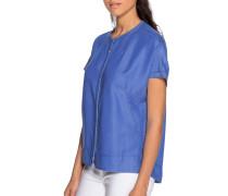 Kurzarm Bluse blau