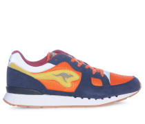 Sneaker, navy/orange, Herren