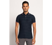 Kurzarm Poloshirt Slim Fit navy