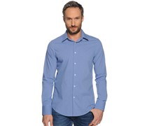 Hemd Custom Fit, blau/weiß gestreift, Herren
