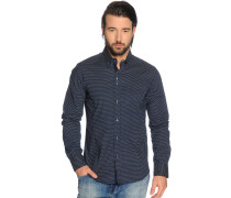 Hemd Custom Fit, navy, Herren