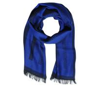 Schal, blau/schwarz, Herren