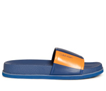 Badesandalen royalblau/orange