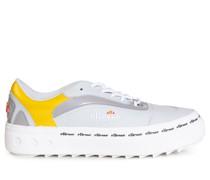 Sneaker grau/weiß/gelb