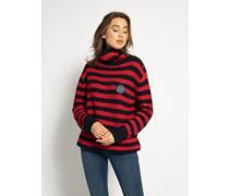 Pullover rot/navy