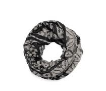 Loopschal, schwarz/grau, Damen