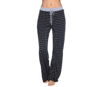 Pyjamahose, schwarz/grau, Damen