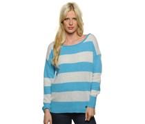 Pullover, hellblau/weiß, Damen