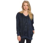 Sweatshirt, schwarz/blau, Damen